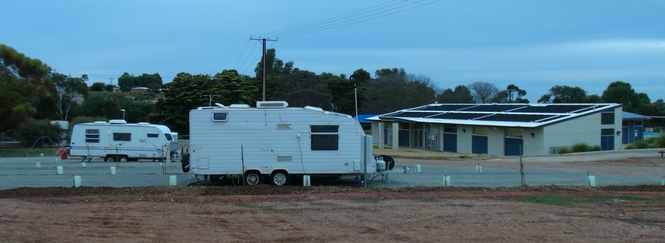 The Eudunda Caravan Park celebrates the first caravans to use the new facility June 2017