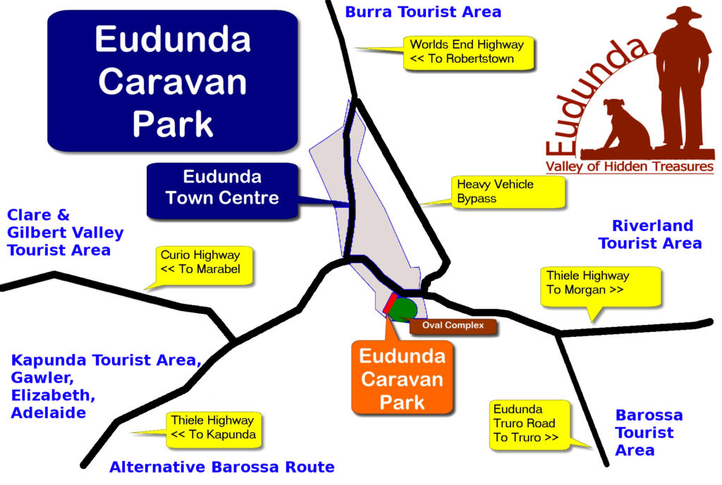 Map of Eudunda showing Caravan Park