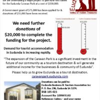 Community Fundraise To Install 2 Cabins for Caravan Park